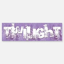 twilight large wall peel purple c Bumper Bumper Sticker