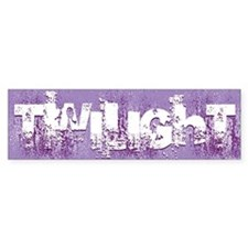 twilight large wall peel purple c Bumper Sticker