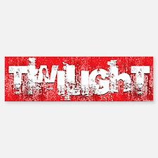 twilight large wall peel red copy Bumper Bumper Sticker