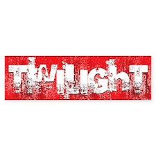 twilight large wall peel red copy Bumper Sticker
