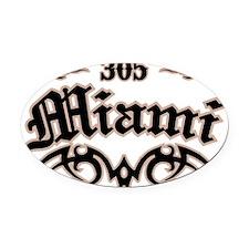 Miami 305 Oval Car Magnet