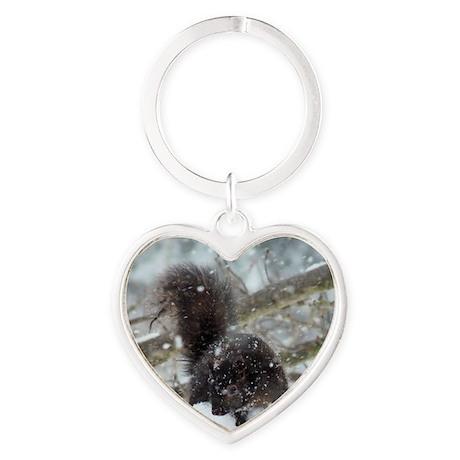 Blk4.25x5.5SF Heart Keychain