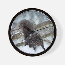 Blk4.25x5.5SF Wall Clock