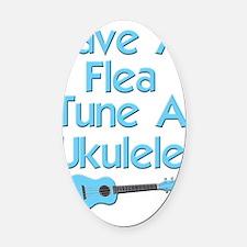 funny ukulele uke Oval Car Magnet