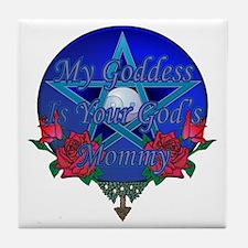 God's Mommy Tile Coaster