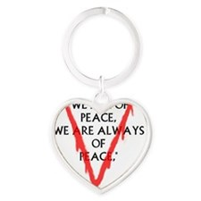 We are of Peace Heart Keychain