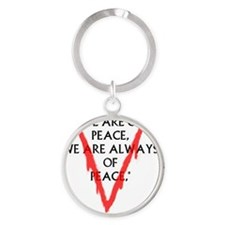 We are of Peace Round Keychain