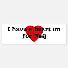 Heart on for Neil Bumper Bumper Bumper Sticker