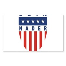 Join Ralph Nader Rectangle Decal