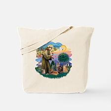 St Francis (ff) - Rev 2 - 4 cats Tote Bag