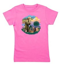 St Francis (ff) - Rev 2 - 4 cats Girl's Tee