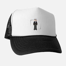 Cartoon Navy Soldier Trucker Hat