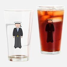 Cartoon Navy Soldier Drinking Glass