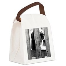 (12p) Lonely Basset Canvas Lunch Bag