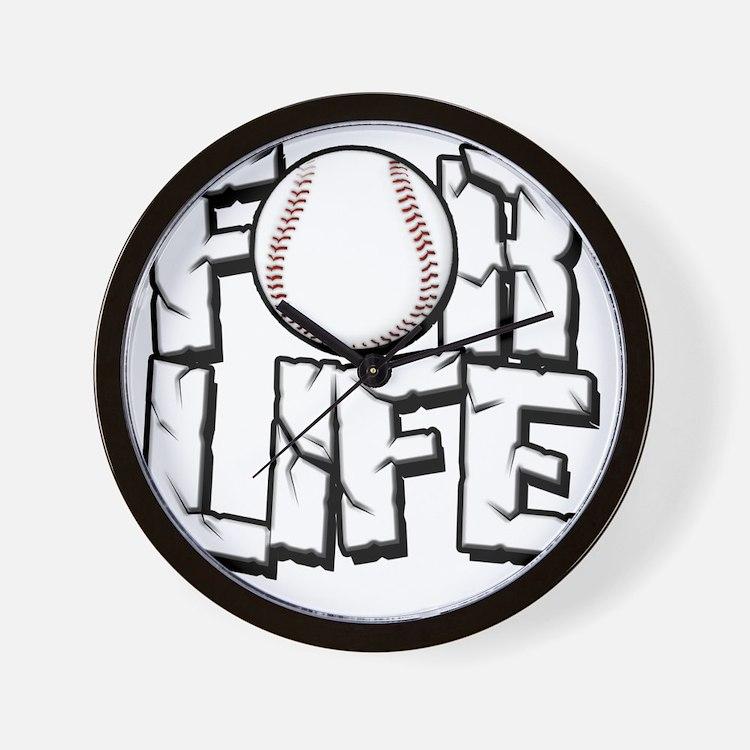 For Life Baseball Wall Clock