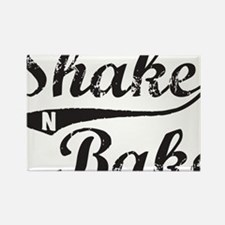 Shake and Bake Black Rectangle Magnet