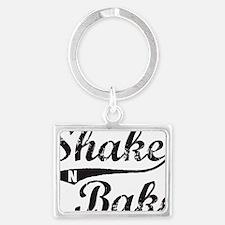Shake and Bake Black Landscape Keychain
