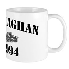 callaghan black letters Mug