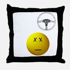lol+driveBLACK Throw Pillow