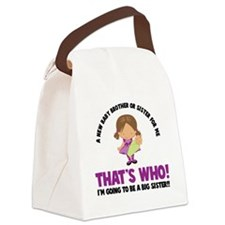 knock knock back Canvas Lunch Bag