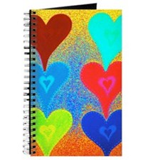 Touching Hearts Bright Teal 5x8 Journal