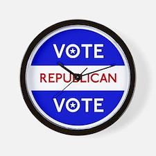 Vote Republican 2 Wall Clock