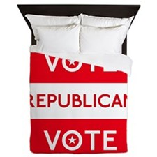Vote Republican Queen Duvet