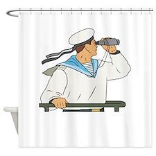 Navy Soldier Shower Curtain