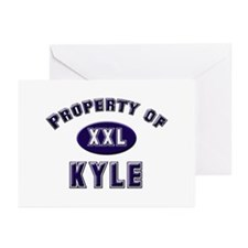 Property of kyle Greeting Cards (Pk of 10)