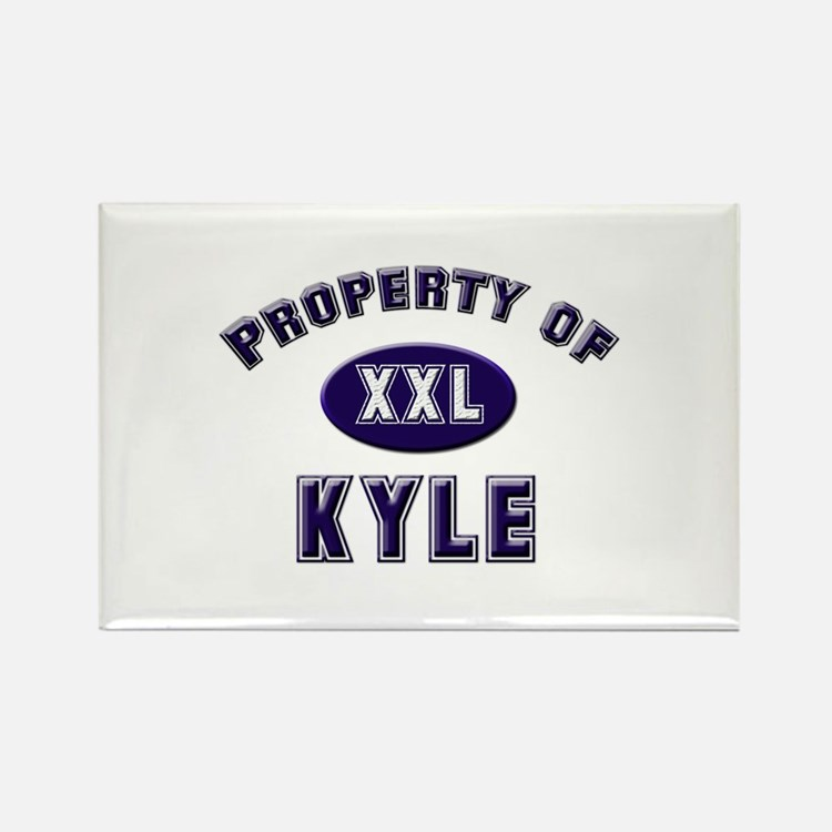 Property of kyle Rectangle Magnet