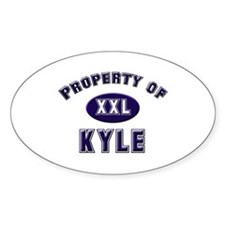 Property of kyle Oval Decal
