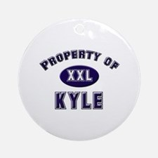 Property of kyle Ornament (Round)
