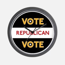 Vote Republican 3 Wall Clock