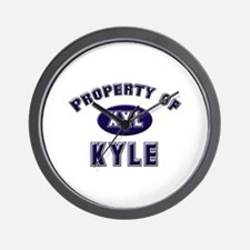 Property of kyle Wall Clock