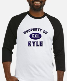 Property of kyle Baseball Jersey