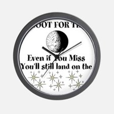 shoot for stars Wall Clock
