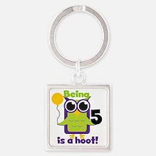 OWL5HOOT Square Keychain