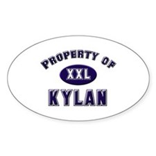 Property of kylan Oval Decal
