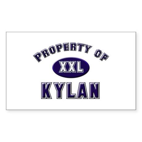 Property of kylan Rectangle Sticker