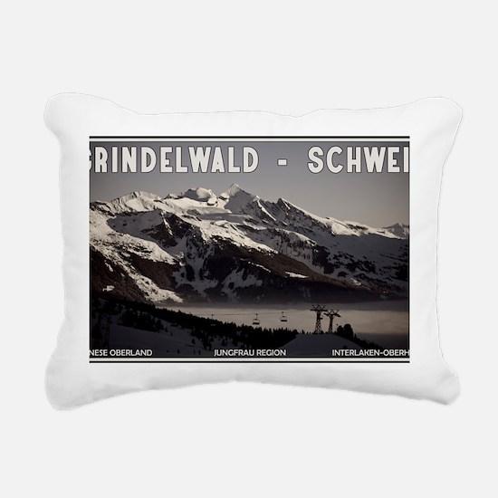 Grindelwald Fog Rectangular Canvas Pillow