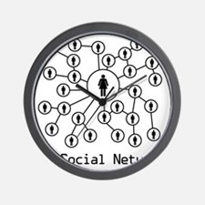 My_Social_Network_Hers Wall Clock