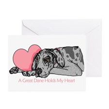 Merle UC Holds Heart Greeting Cards (Pk of 10)