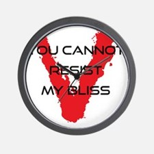 resist bliss Wall Clock