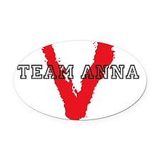 team anna Oval Car Magnet