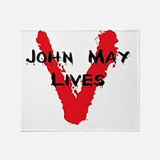 john may lives Throw Blanket