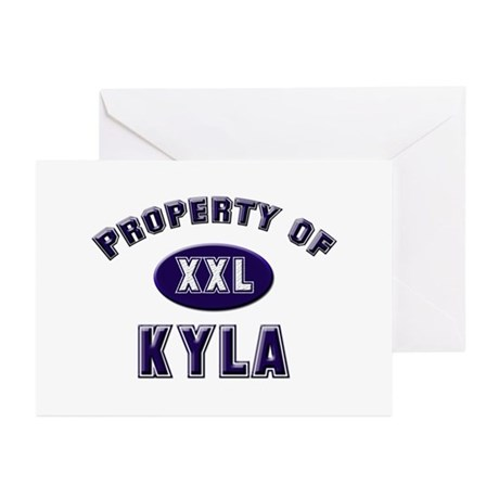 Property of kyla Greeting Cards (Pk of 10)