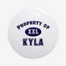 Property of kyla Ornament (Round)