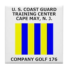 USCG Recruit Company G176<BR>Tile Coaster