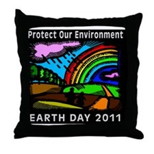 earth3711lightW Throw Pillow