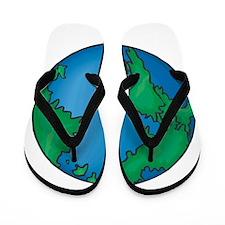 earth2711coloredT Flip Flops